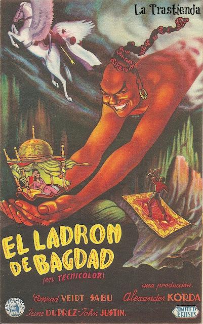 El Ladrón de Bagdad - Folleto de mano - Conrad Veidt - Sabu - June Duprez
