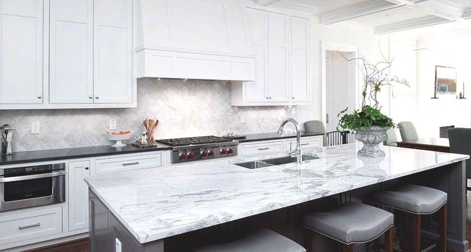 Statuario Marble Kitchen