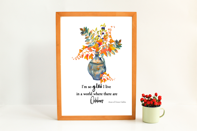 Anne of Green Gables fall quote free printable framed