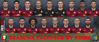PES 2017 Facepack Osasuna 2019 by Eddie Facemaker