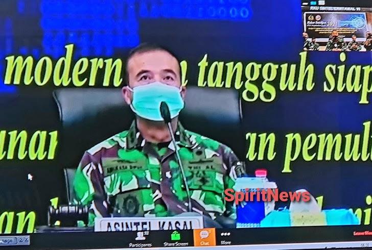 Asintel Danlantamal VI Ikuti Rakor Intelijen TNI AL TA. 2021 Secara Vicon