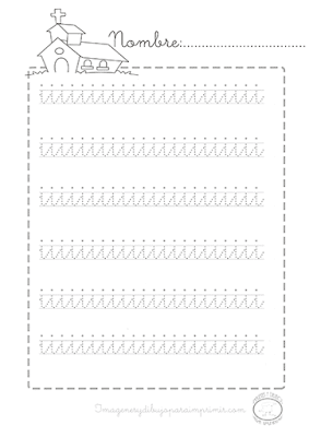 Caligrafia vocales minusculas i