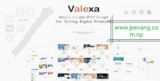 Valexa v1.2.1 - PHP nulled Script For Selling Digital Products- ecommerce php script