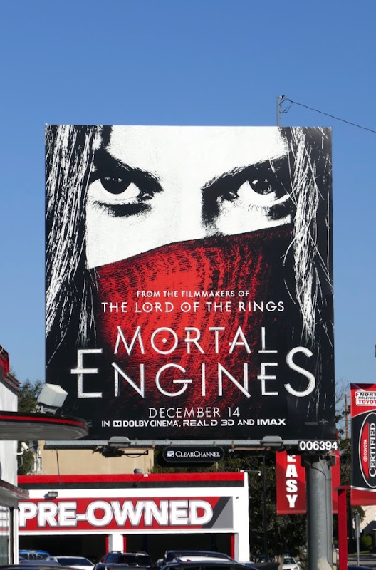 Mortal Engines movie billboard