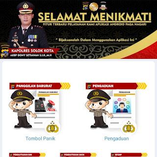 Dilan, Polres Solok Kota Kini Miliki Layanan Online Berbasis Website