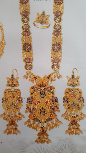 Latest Gold Necklace Designs In 60 Grams