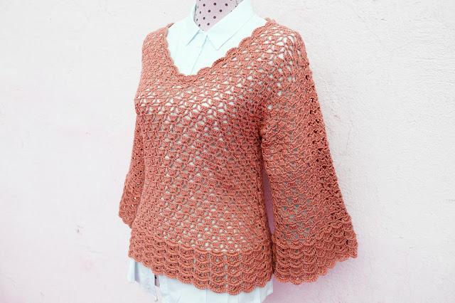 3 - Imagen Crochet Blusa de mujer a crochet y ganchillo parte 2 por Majovel Crochet