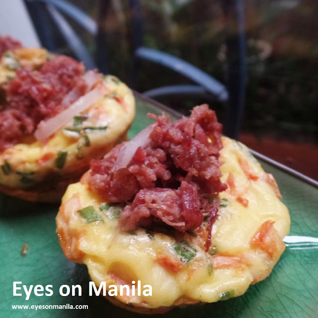 Egg Muffins with Corned beef