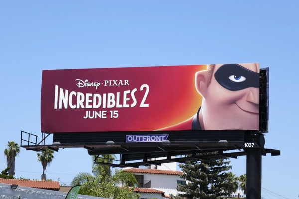 Incredibles 2 film billboard