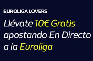 william hill 10€ en Apuestas Gratis Euroliga hasta 10-4-2020