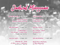 Jadwal Majlis Nurul Musthofa, 4 November - 9 November 2019