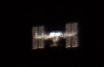 Fotografía de la ISS desde la Tierra