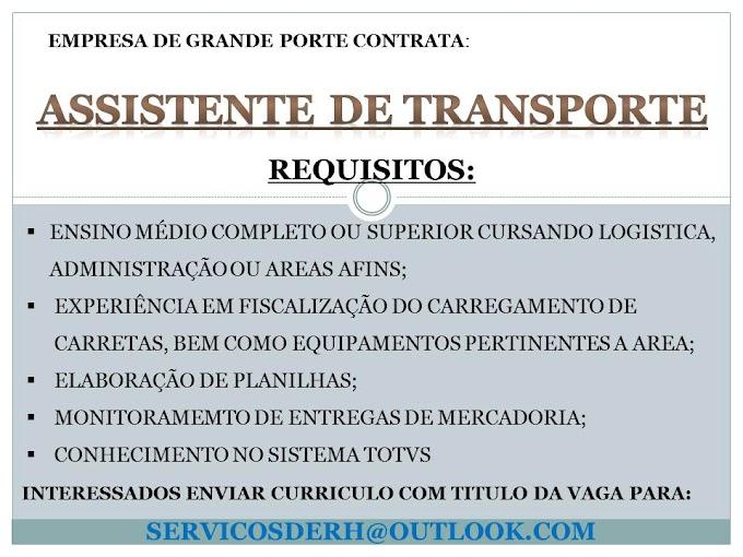 ASSISTENTE DE TRANSPORTE