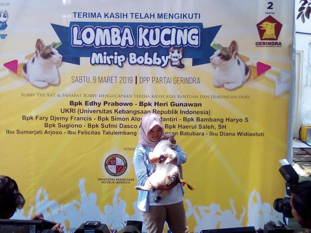 Meong! Bandi jadi Pemenang Lomba Kucing Mirip Milik Prabowo