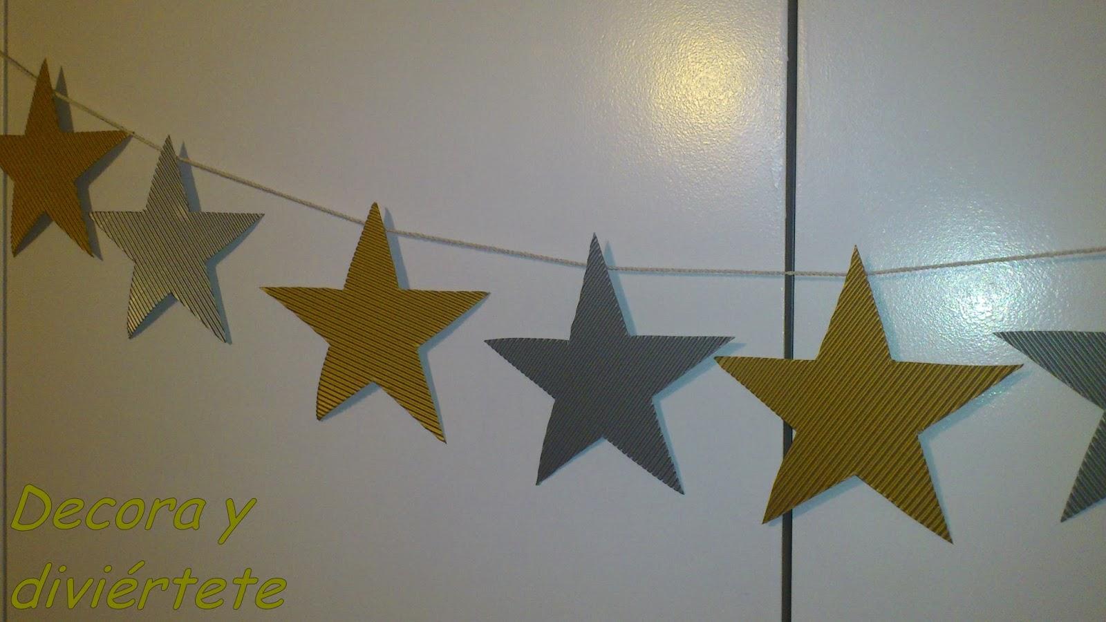 Diy paso a paso guirnalda con estrellas para la decoraci n navide a - Como decorar un salon en navidad ...