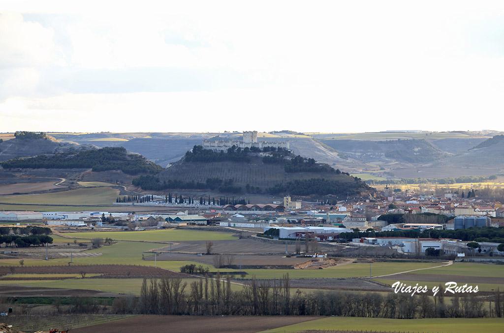 Vistas de Peñafiel desde el Castillo de Curiel de Duero