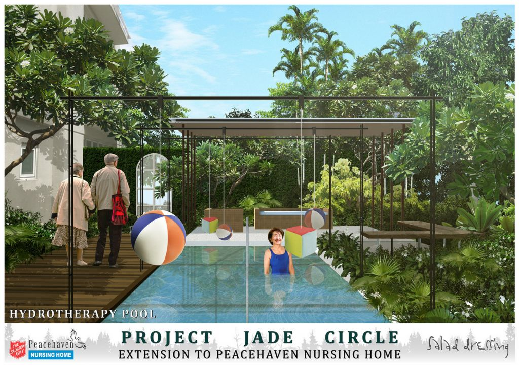 Jade Circle will house a two-storey day-activity centre and lifestyle club, with a hydrotherapy pool, cafe, hair salon and a gym equipped with elder-friendly, strength-training machines.