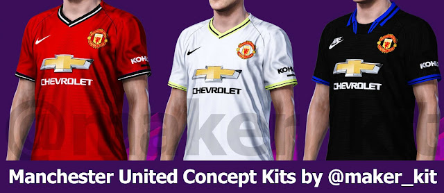 PES 2020 Manchester United Concept Kits by @maker_kit