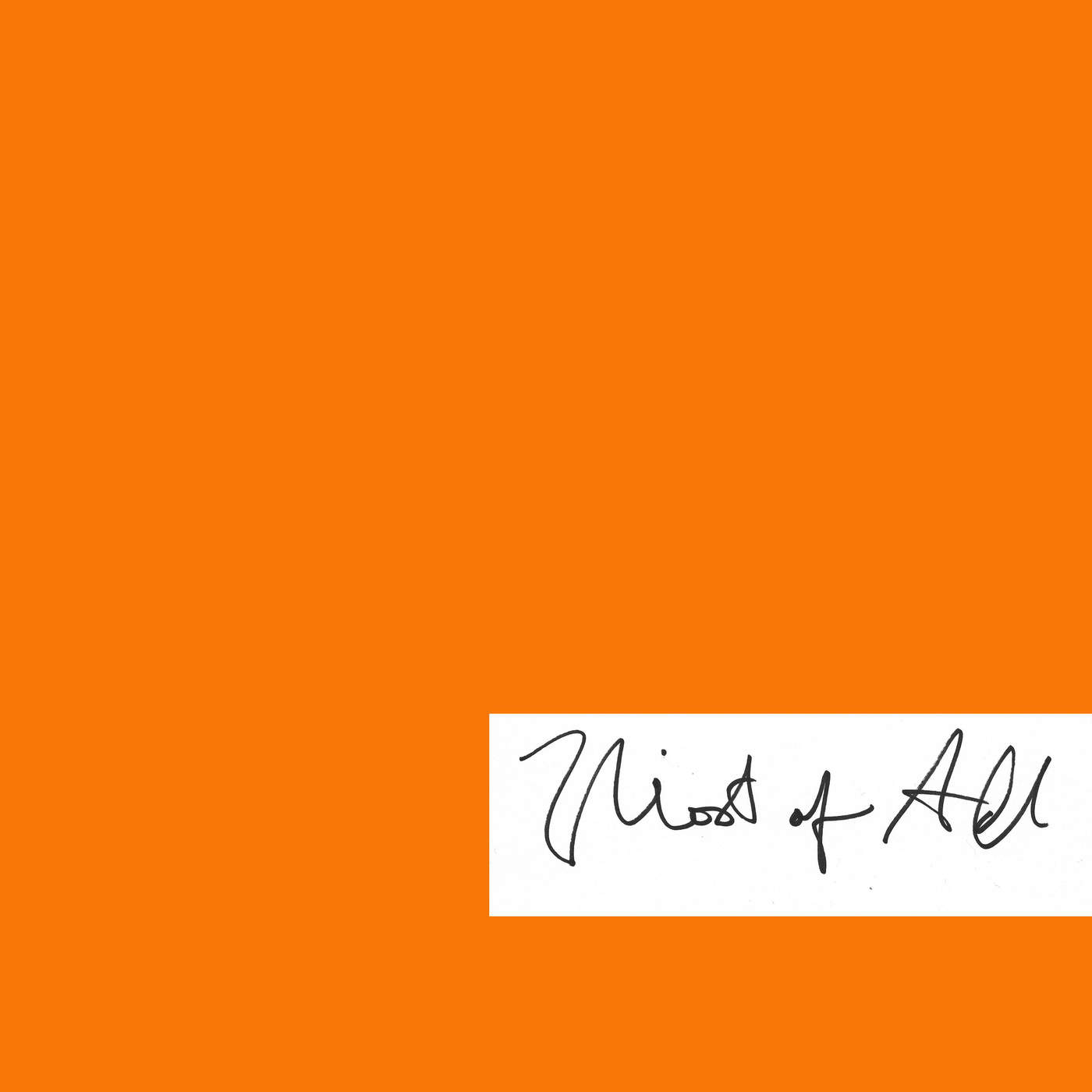 JMSN - Most of All - Single Cover