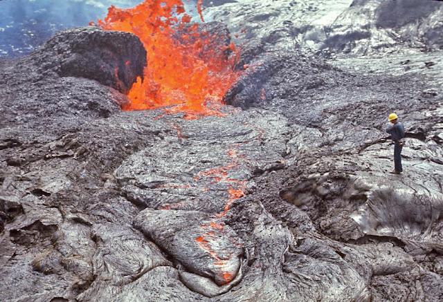 Fotografías erupción del volcán Kilauea entre 1969 y 1974