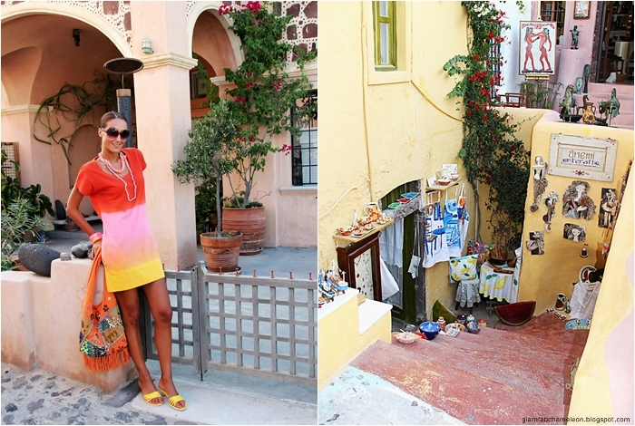 what to wear in Santorini island colorful outfit ideas