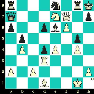 Les Blancs jouent et matent en 2 coups - Albin Planinec vs Milan Matulovic, Novi Sad, 1965