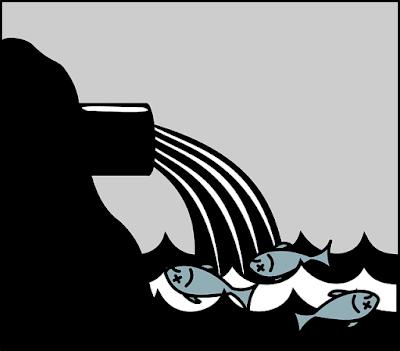 River pollution vector