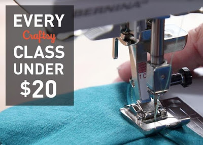 Every class under $20 at Craftsy