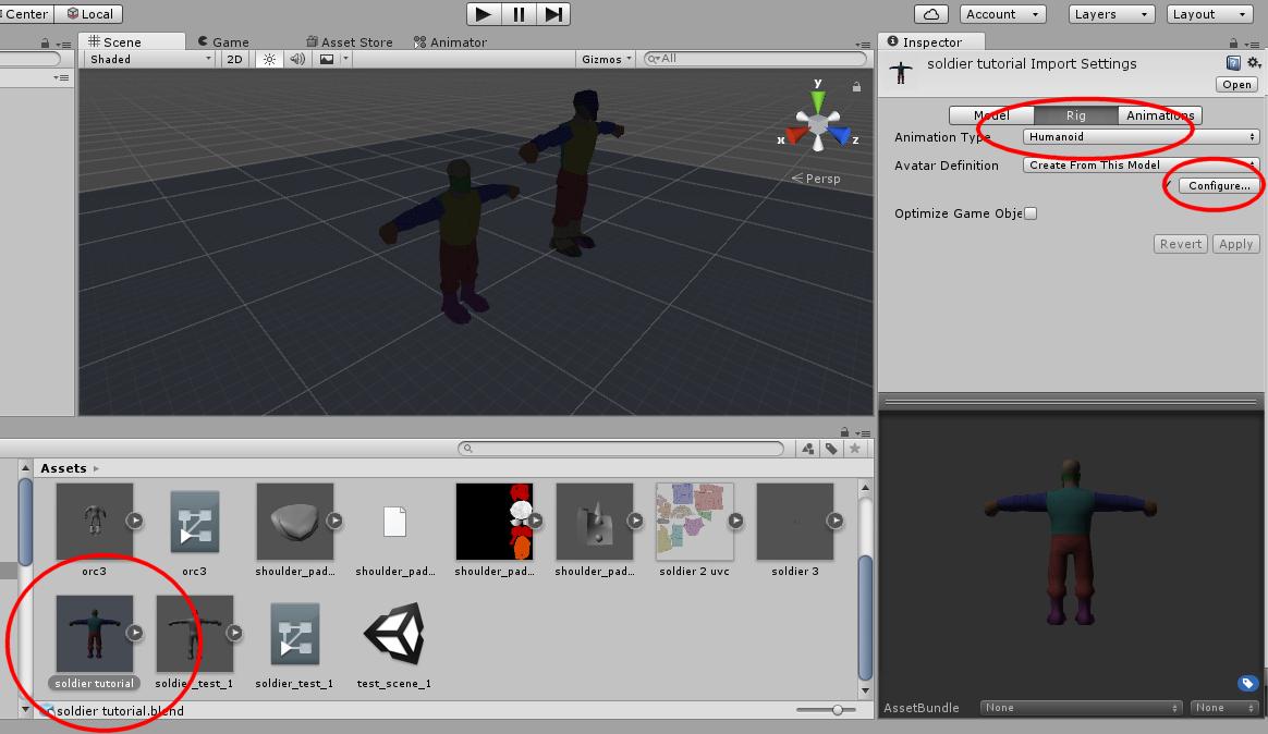 Nerd Club: Creating a simple mecanim-ready rig for Unity