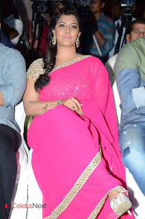 Actress Varalakshmi Pictures in Pink Saree at Madha Gaja Raja Audio Launch  0052