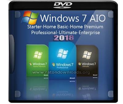 Windows 7 AIO 32 e 64 ATUALIZADO 2018