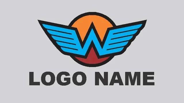 W Alphabet Company Logo Design Elements Vector Free Download