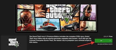 Download Gratis Game GTA V di Epic Games Store