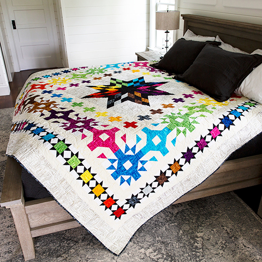 Designer Star Quilt designed by Wendy Sheppard for Anthology Fabrics