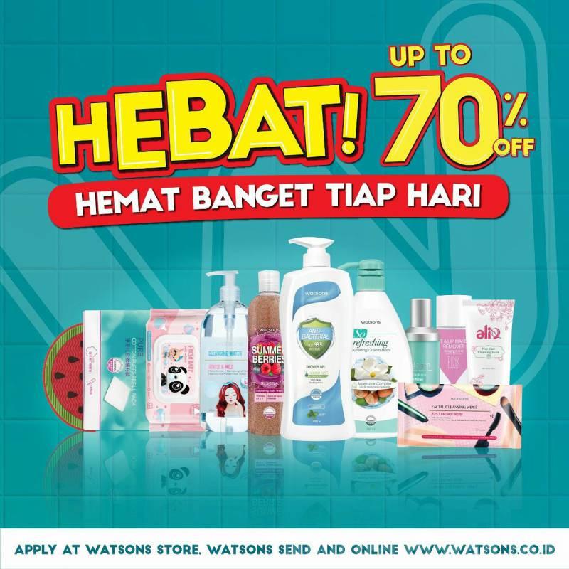 Watsons Promo Hebat – Up to 70% Off*