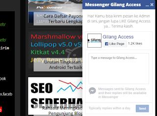 Membuat Chat Box Toko Online