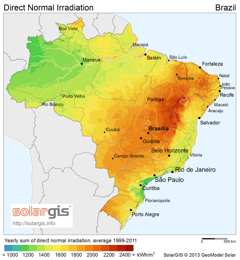 Topographical Map Of Brazil