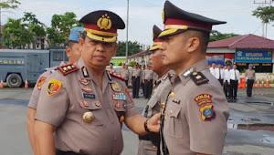 Kapolres Pelabuhan Belawan Pimpin Sertijab Kabag Ops
