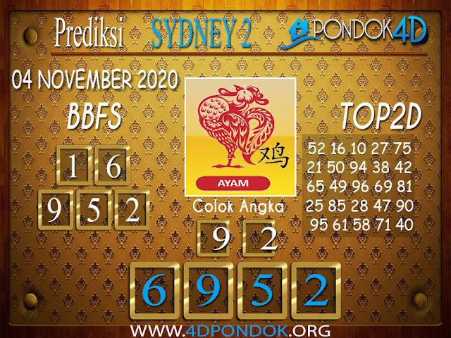 Prediksi Togel SYDNEY PONDOK4D 04 NOVEMBER 2020