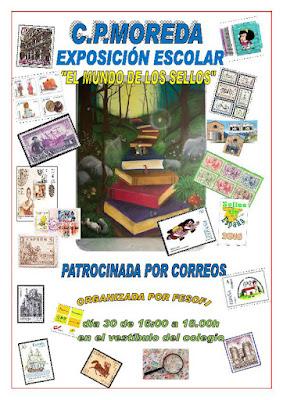 Cartel exposición escolar en Moreda