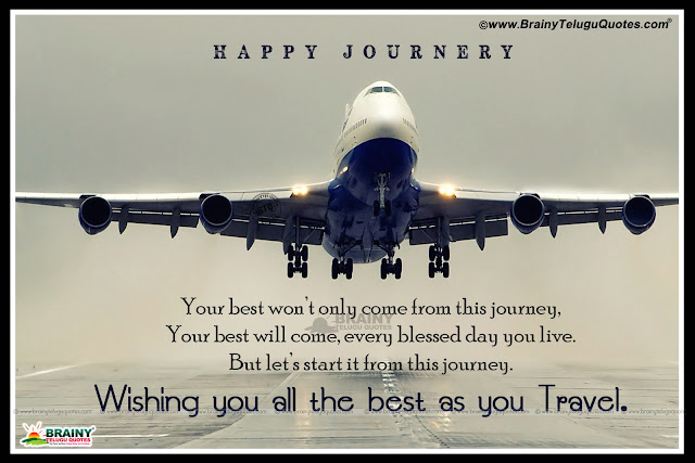 Latest Happy Journey Quotes in English, happy journey greetings with plane wallpapers