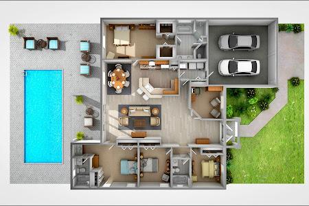 15 Denah Rumah Modern dengan Kolam Renang Super Keren