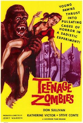 Póster película Zombies adolescentes