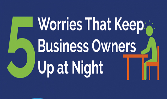 5 Worries That Keep Business Owners Up At Night #infographic