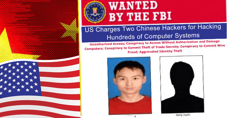 US Charges Two Chinese Hackers for Hacking into Hundreds of Computer Systems