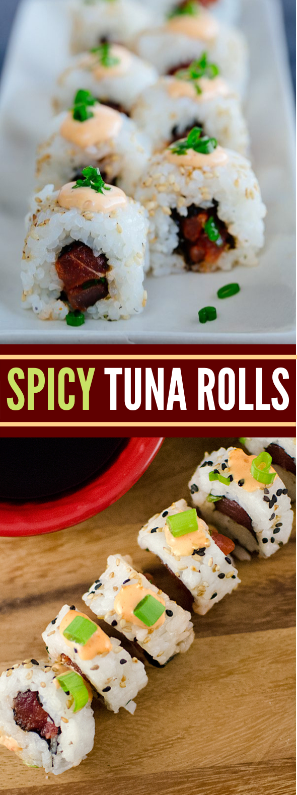 HOW TO MAKE SPICY TUNA ROLLS #dinner #sushi