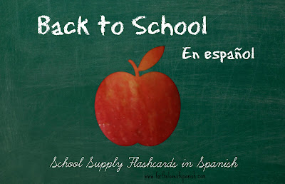 Back to School en Español //  School Supply Flashcards in Spanish