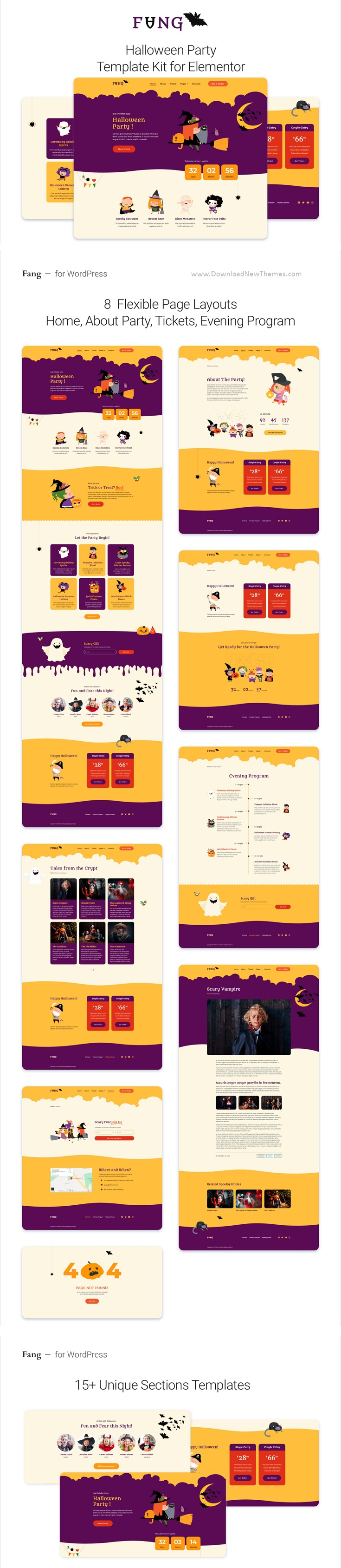 Halloween Party Template Kit for Elementor