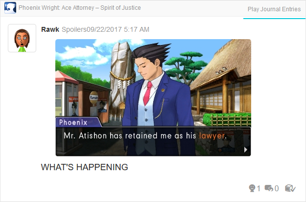 Phoenix Wright Ace Attorney Spirit of Justice Paul Atishon retained lawyer