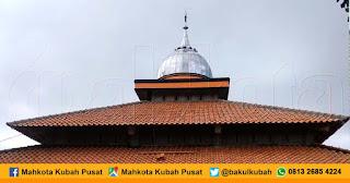 Pemasangan Kubah Masjid Stainless Purbalingga